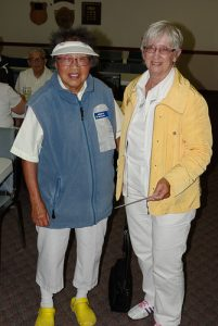 2016 Beckwith Scotch Pairs one-game winners Miriam Li and Gail Richards