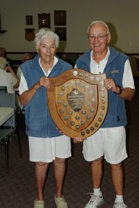 2016 Beckwith Scotch Pairs winners Floyd Ruttan and Sue Coell