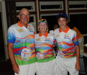 Two game winners Ivo Van Bastelaere, Auz Chambers, Anne Van Bastelaere Sidney