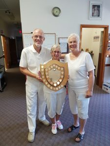 2016 Anniversary Triples Winners Svend Klausen, Gail Richards and Mary Wilson