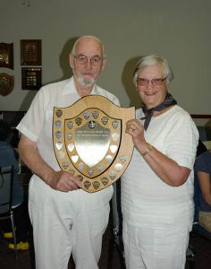 2016 Hutchings Pairs winners Jim McClennan and Sandra McConnell